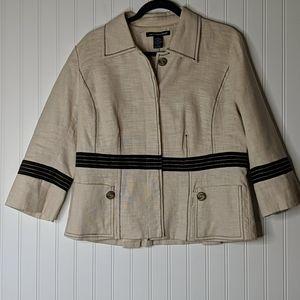 St. Tropez West Linen Jacket Blazer